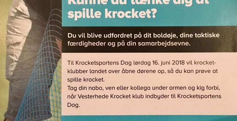 Krocketsportens Dag 16. juni 2018